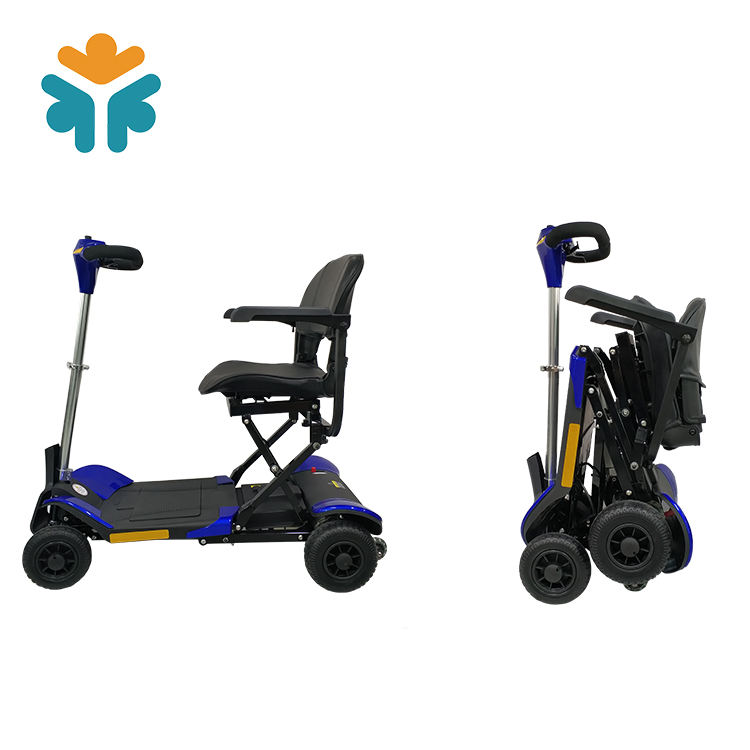 wholesale Elderly Handicapped Foldable 4 wheel foldable light weight mobility scooter