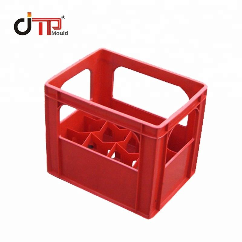 Plastic injection industrial beer beverage bottle stackable Storage box Bread crate mold