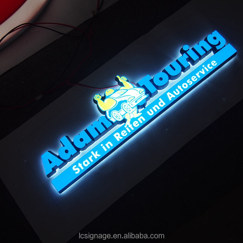 Stainless steel & acrylic illuminated led toko <span class=keywords><strong>backlit</strong></span> surat tanda/signage