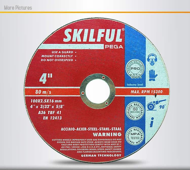 """4"""" 100x2.5x16.22mm abrasive disque de coupe pour le métal( t41) la technologie en allemagne"""