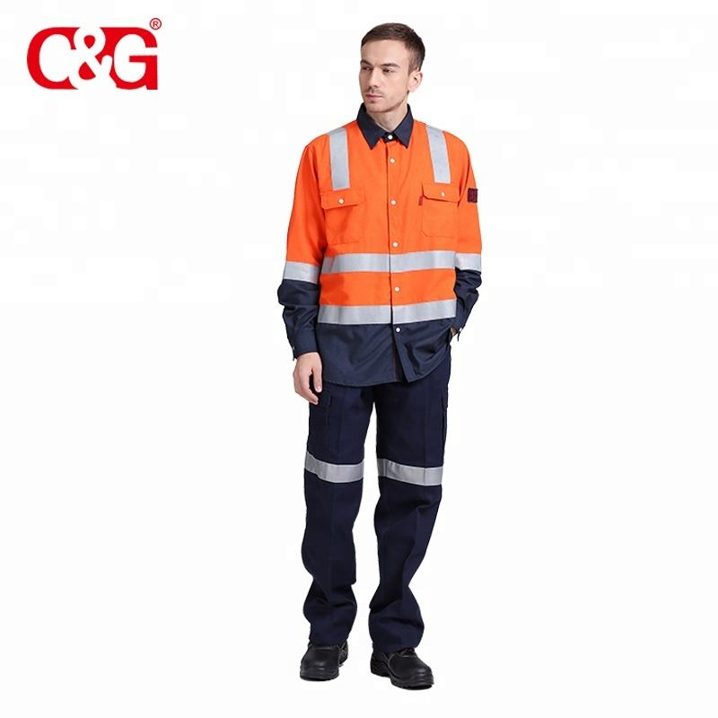 Anti-UV [ Flame Retardant Workwear ] Workwear Overall Wholesale Flame Retardant Workwear Work Shirt And Pant