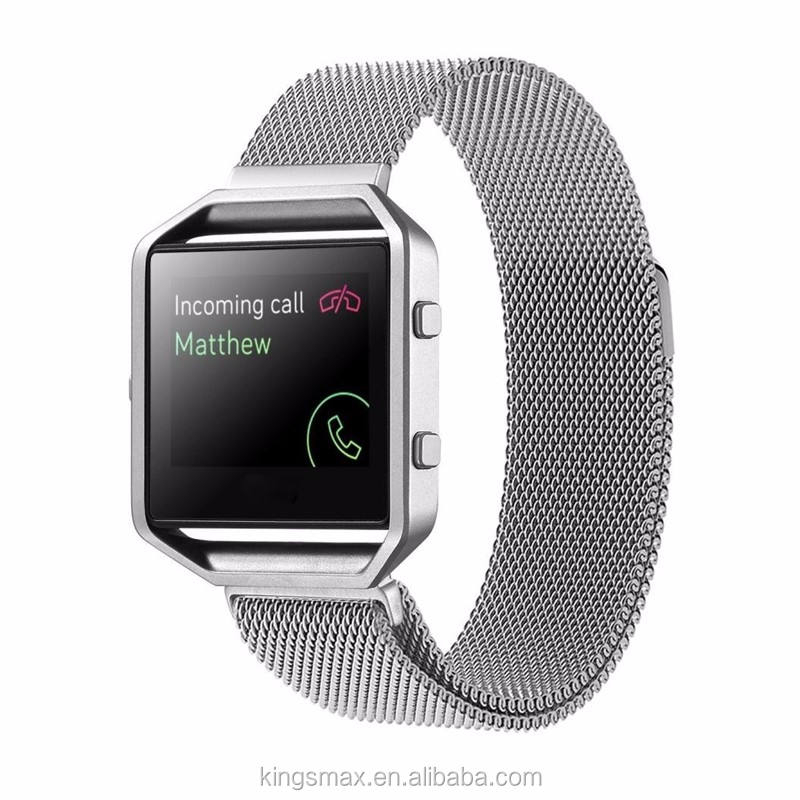 Bulk Buy From China Stainless Steel Milanese Bracelet Magnetic Closure Replacement Strap band for Fitbit Blaze