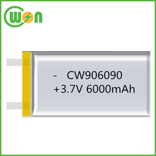 3.7V 6000mAh Lithium ion rechargeable battery pack PL906090 906090 li po battery for tablet