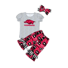 2019 new conice Arkansas Razorback clothing girl clothes sets teen clothes kids baby girls boutique outfits