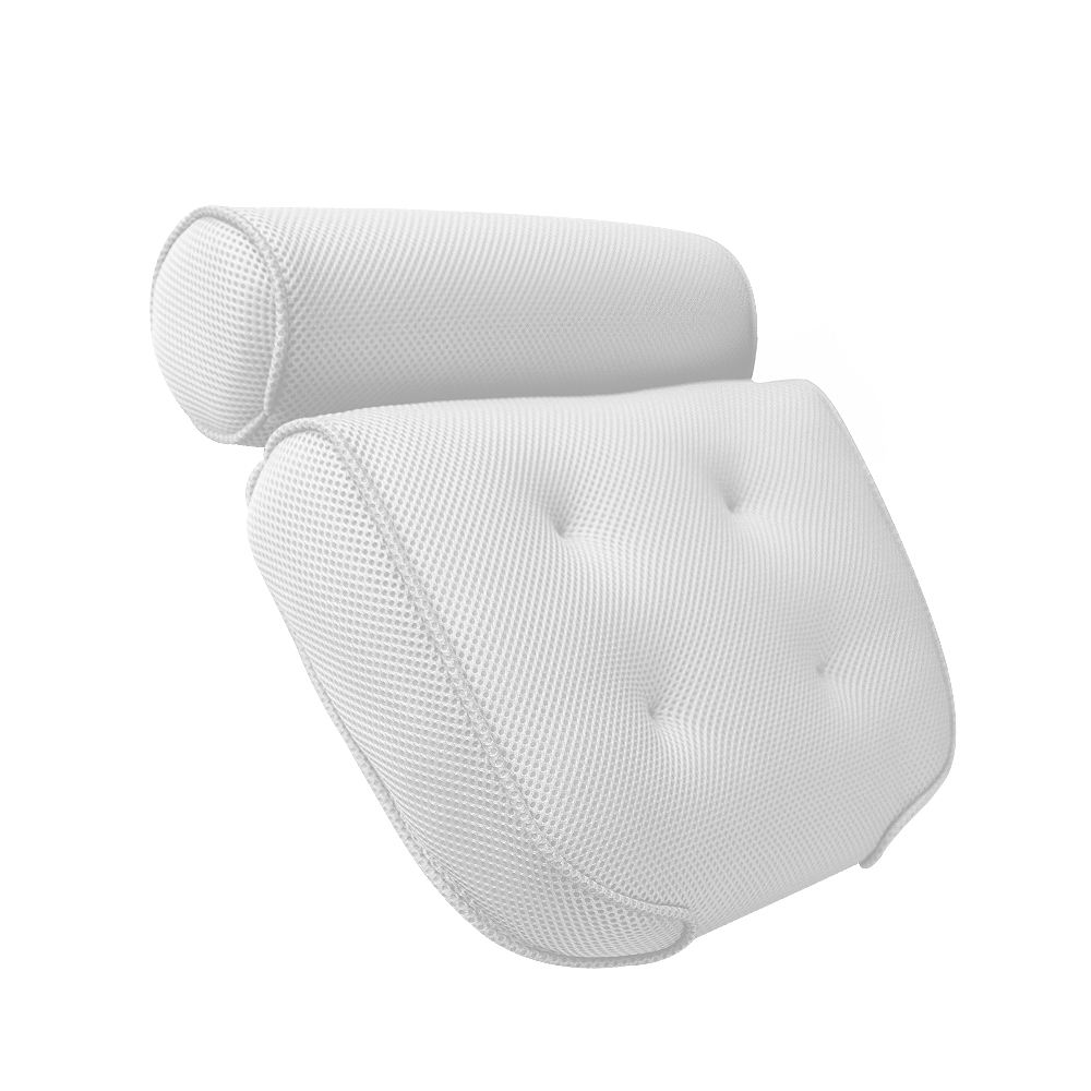 [ Bathtub Pillow ] Living Smart Fast Delivery Luxury Bathtub Pillow 3D Washable Mesh Massage Bath Pillow