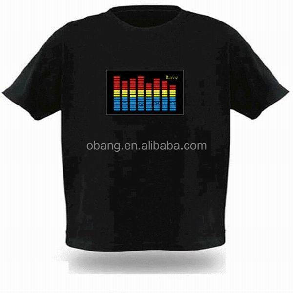Comercio al por mayor 100% algodon custom led la <span class=keywords><strong>camiseta</strong></span>/la <span class=keywords><strong>camiseta</strong></span>/el <span class=keywords><strong>ecualizador</strong></span> t-shirt