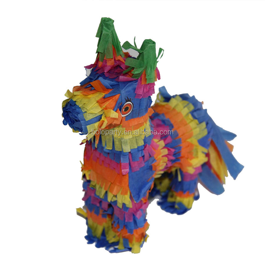 2020 Hot-Selling Fancy Rainbow Ezel Pinata Voor Kids Kinderen Birthday Party Pinata