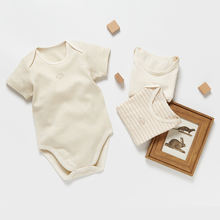 Eco friendly no chemical dyeing organic cotton baby boy girl romper bodysuit clothes
