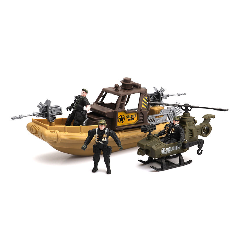 Good quality plastic combat force military vehicle toys soldier play set