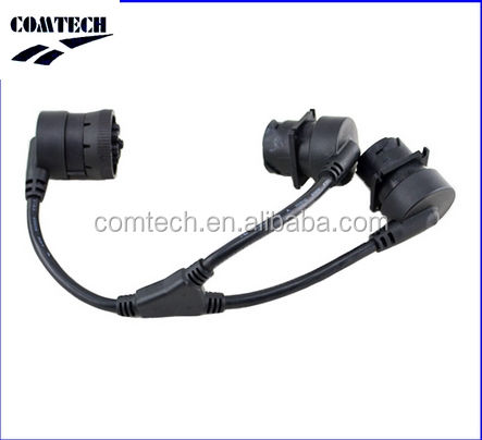 Y splitter kabel diagnostik untuk truk J1939 9 pin deutsch konektor J1939