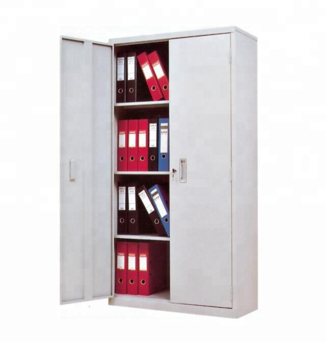 Office furniture two doors steel storage 3 shelves adjustable file cabinet with lock (ST-08)