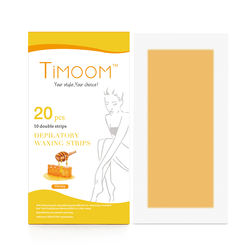 TIMOOM 20 pcs Hair Removal  Depilatory Waxing Strips Factory Besr Selling/ Honey Cold Wax Strips Disposable wax strips