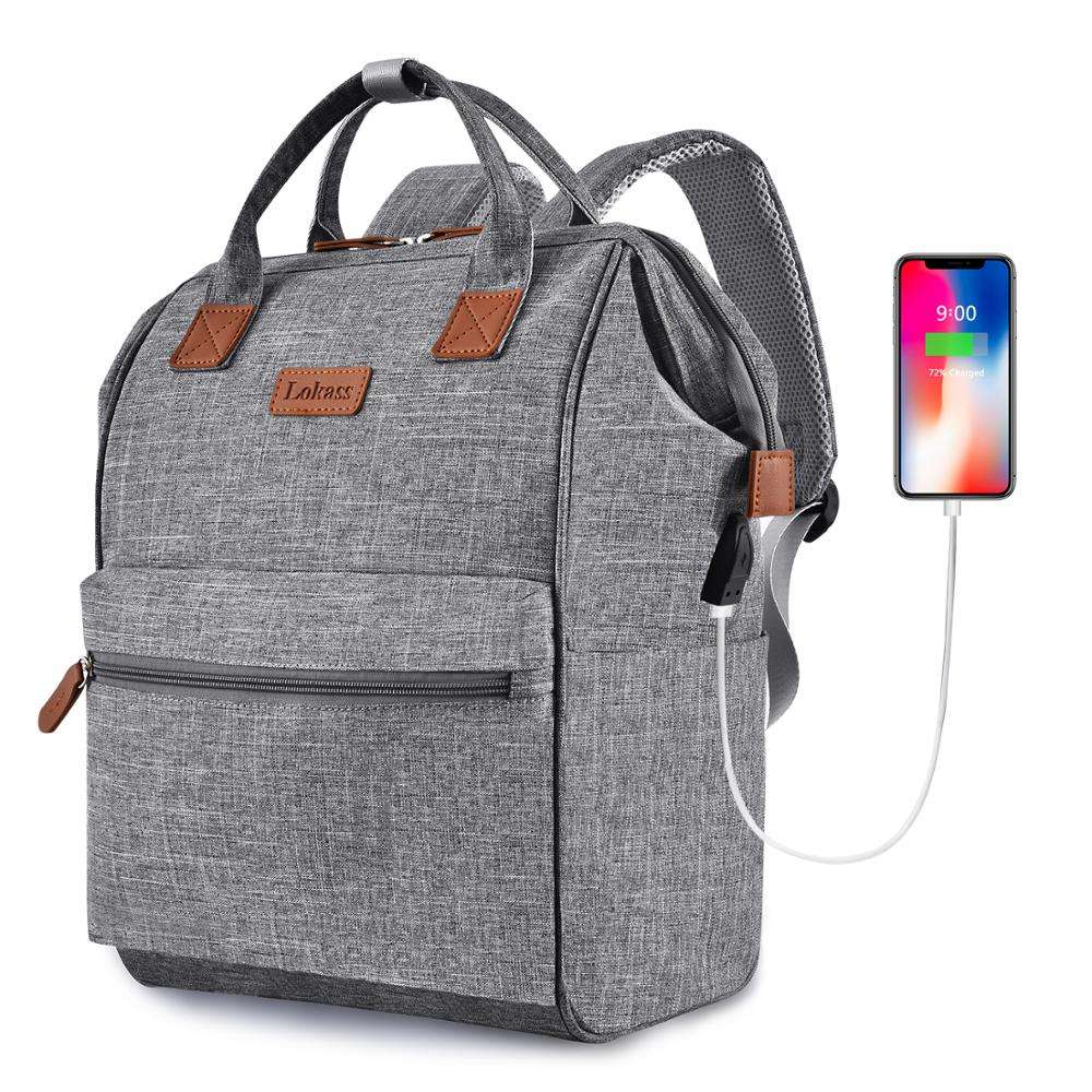 Lokass Laptop Bag Laptop Backpack With USB Charging Port Men