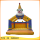 cheap price durable pvc inflatable clown happy bouncy castle for kids