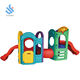 YF-09002 children garden amusement park kindergarten indoor outdoor play 8 in 1 mulit-function plastic slide climber