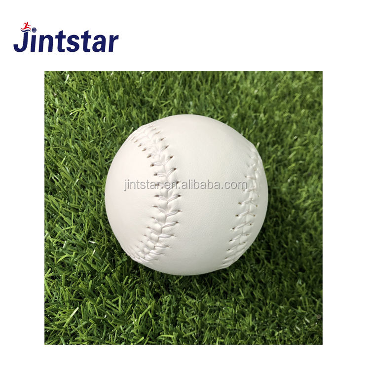 Jintstar wholesale cheap pu/pvc cowhide leather softball for training