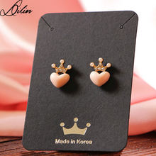 "5.7X8cm earring/pendant jewelry display hanging cards showcase with Hot stamping words"" made in korea"""