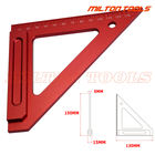 "High Quality Precision Woodworking Tools Precision Triangle Ruler aluminum 6"" Carpenters Square Carpenter's rule"