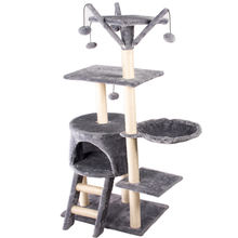 high quality large wooden scratch climbing tower fashion diy deluxe foldable luxury sisal pet products cat tree