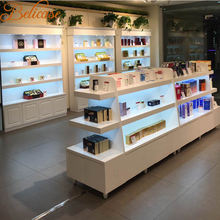Store display furniture and showcase design for small cosmetics shop