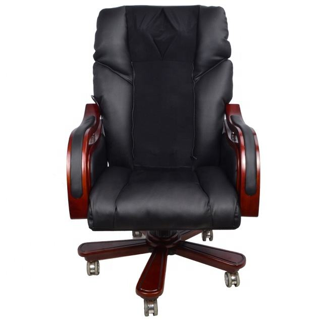 Cheap Leisure Office Chair Luxury Leather Height adjust Boss Office Chair with Massage Chair