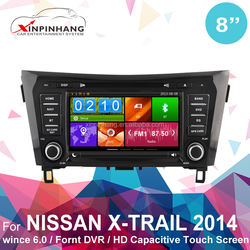 Capacitive touch screen car dvd for X-TRAIL car dvd player with GPS