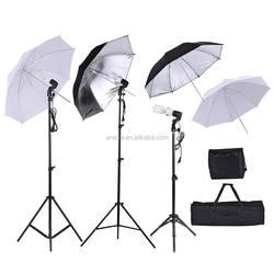 Photo Studio Kit with Light Stand + Bulb+Translucent White Soft Umbrella+Bulb Swivel Socket+Bulb Storage Bag+Carrying Bag