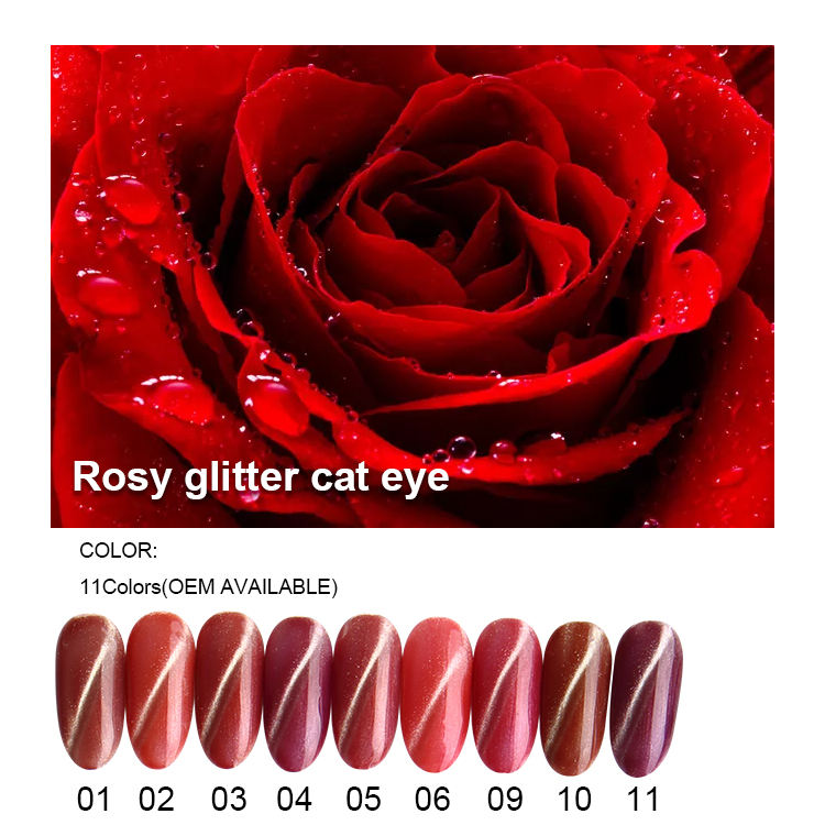 Glitter cat eye UV gel polish gratis monsters private label fabriek leverancier