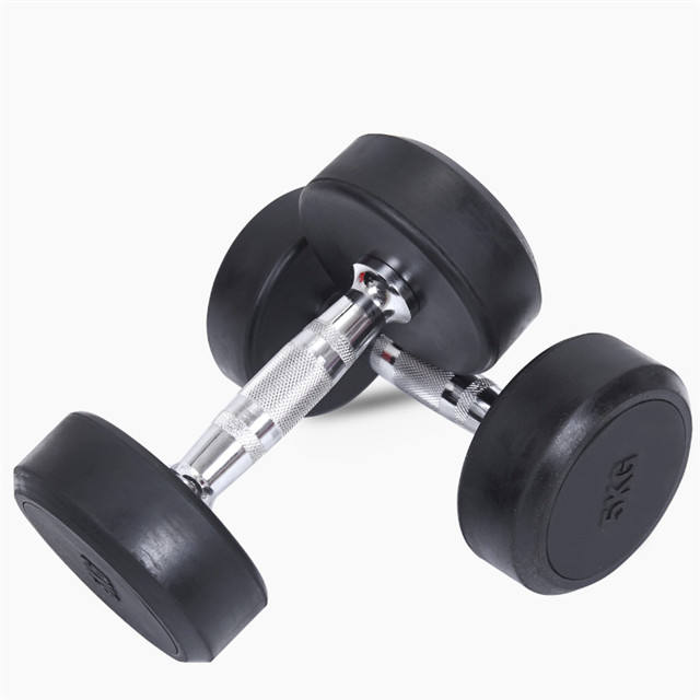 Manufactural Price Rubber coated dumbbell