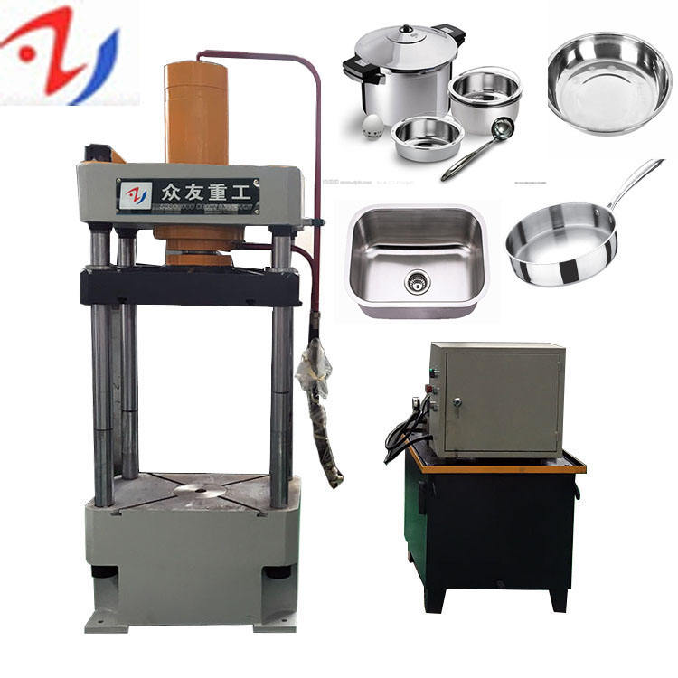 hydraulic press stainless steel pot aluminium cookware making manufacture machine
