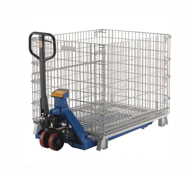 Custom foldable steel stillage collapsible storage cage