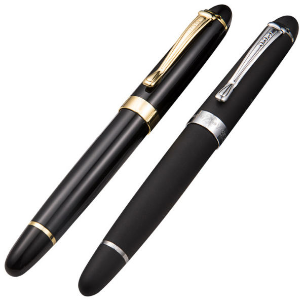 2020 High class metall freies tinte refill schwere gewicht volle shiny black roller ball pen mit custom logo