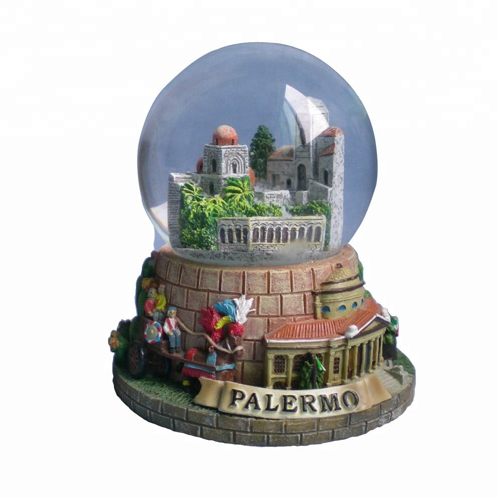 Wholesale customize europe style italy city souvenirs snow balls