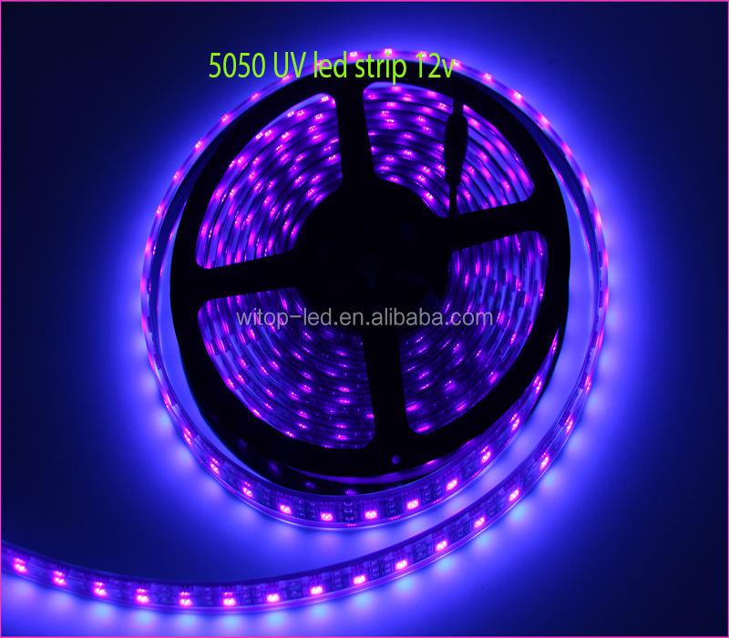 5V Cob Purple Ultraviolet Bar Flexible Addressable UVB Light 365nm 385nm UV LED Strip