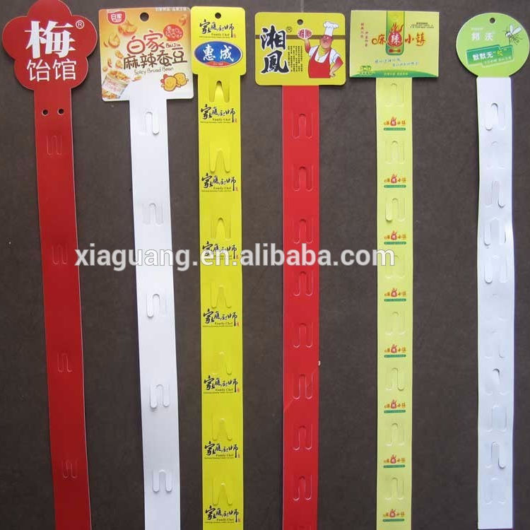 Strip Klip Tampilan Gantung Plastik PP, Strip Klip Plastik Display Gantung Supermarket