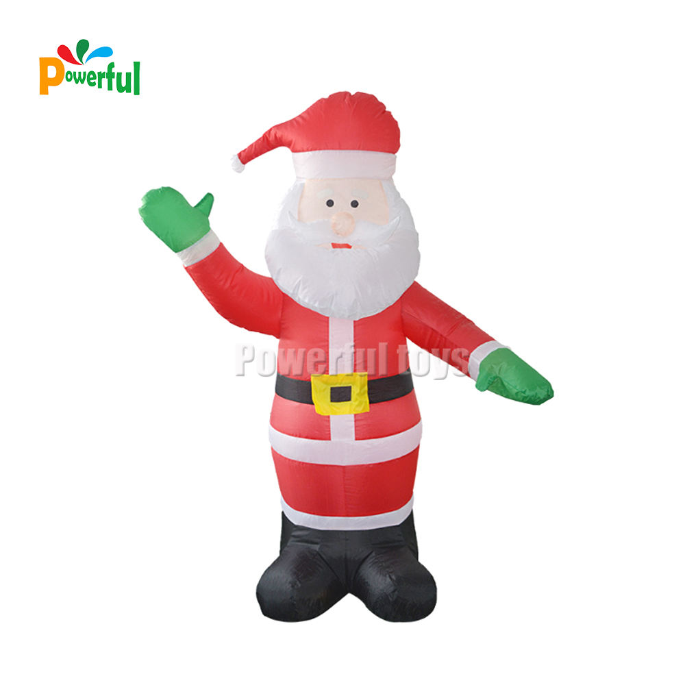 Outdoor lighted Commercial Decoration Giant Inflatable Santa Claus
