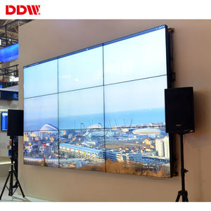 Disesuaikan Hot 49 Inch 3.5 Mm LCD Video Wall Panel LG 700 Nits 1920X1080 Brightsign Video Wall untuk pusat Keuangan