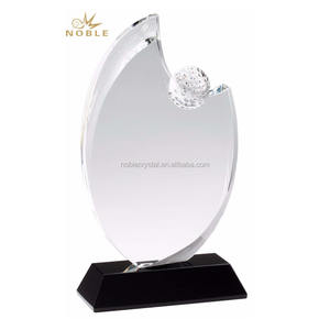 New Design Sports Theme Plaque Crystal Golf Trophy