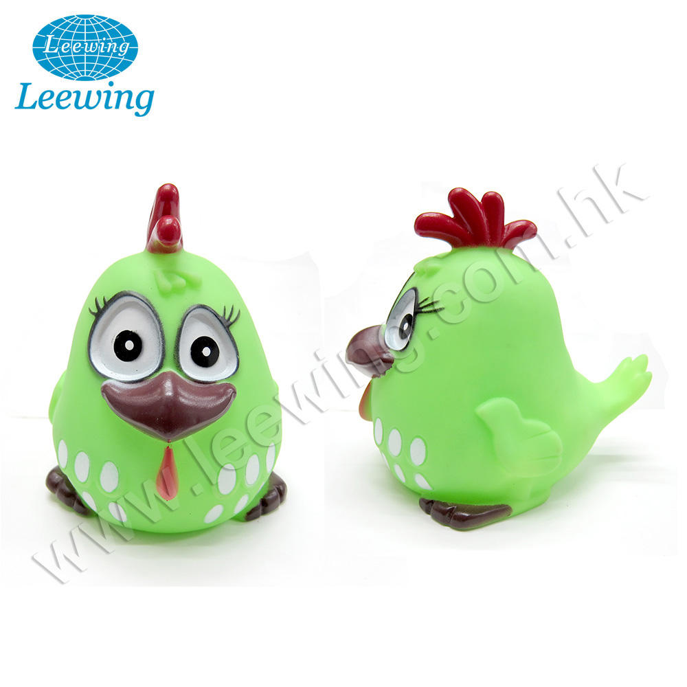 Hot Selling Creative Festival Promotional Easter Gift Item Plastic PVC Vinyl Customized Squeaky Chicken Toy for Kids