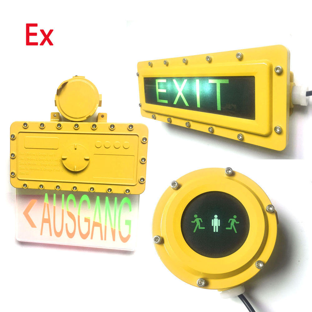 Hazardous Areas Explosion proof Exit sign Emergency Lighting 5W IP66 - 3 Hours Run Time