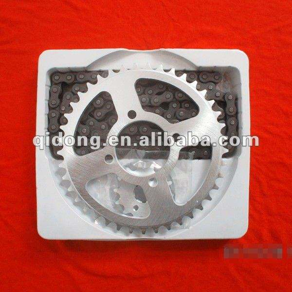YBR 125 motorcycle sprocket chain and pinion
