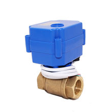 5v 3.6v 12v 24v 110v 220v DN15 DN20 CWX-15N 2 way brass ss304 mini electric motorized water ball valve for water irrigation
