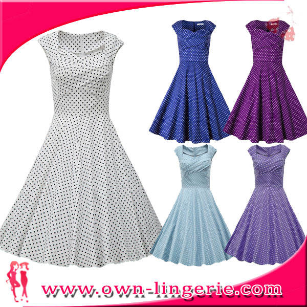 Sexy 9 colors Bestdress 1950 s pin up vintage retro swing váy polka dot ockabilly ăn mặc