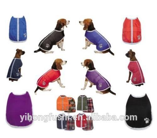 Manteaux pour chiens- couverture réversible étanche.& polaire chien au chaud manteau de grange