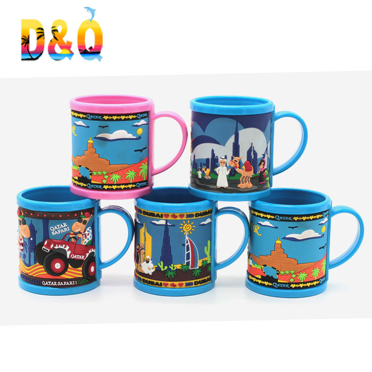 Hot sale souvenir custom design plastic cup pvc mug