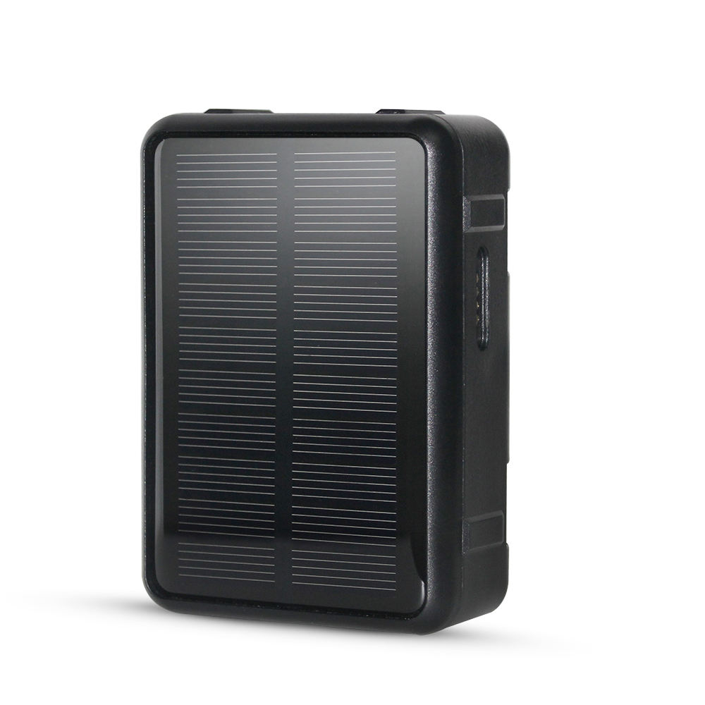 Solar GPS Tracker 60 Days Working Time 9000mAh Battery-operated IP67 Waterproof with Anti-remove Alarm, Support Timing On/OFF