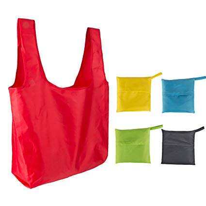 Full Color Printing Sports Foldable Reusable Waterproof Polyester Folding Shopping Ripstop Nylon Bag