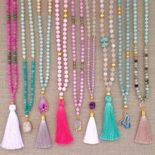 Fashion Jewellery Handmade Beaded Tassel Necklace