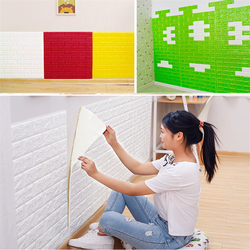 self adhesive 3d pe foam brick washable wallpaper for kitchen brick style wallpaper