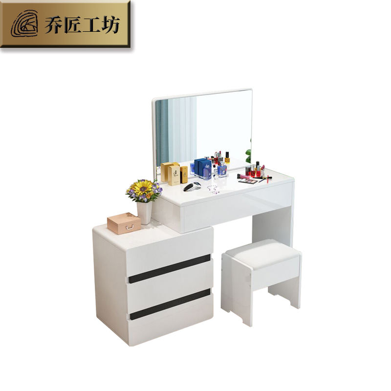 China manufacturer bedroom furniture modern simple design dressing table with mirror makeup dresser